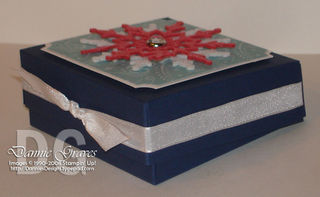 Snowflake Pizza Box Side