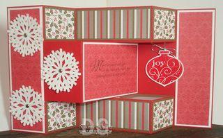 Snowflake Tri Fold Card